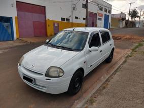 Renault Clio Rn 1.0 16v Branco Completo E Revisado