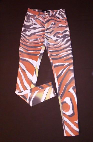 Pantalón De Diseñador Just Cavalli, Original, Print Zebra