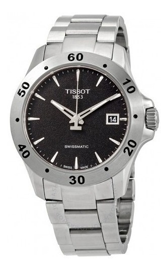 Relógio Tissot V8 Swissmatic Automático Preto/cinza/aço