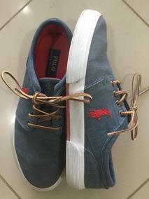 Tênis Polo Ralph Lauren Blue Jeans Comprado Em Nyc 41