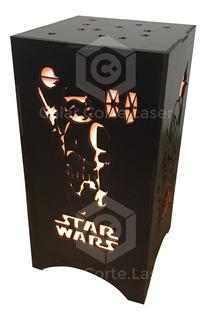 Lampara Velador Infantil Luz De Noche Star Wars