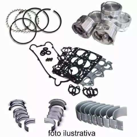 Kit Motor Pistao Anel Junta Gol 1.6l 8v Sohc Bah Ferro Gas 2