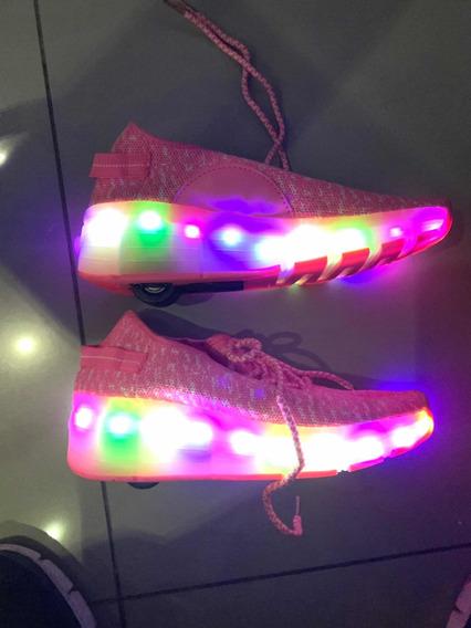 Zapatillas Con Luces Y Ruedas