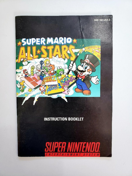 Mario All Star Manual Snes