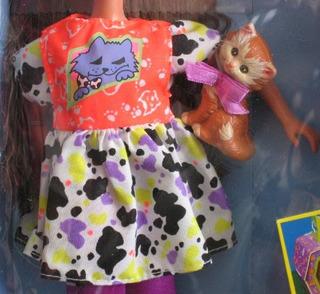 Barbie Original Muñeca Pet Pals Courtney W Kitty & Accesorio