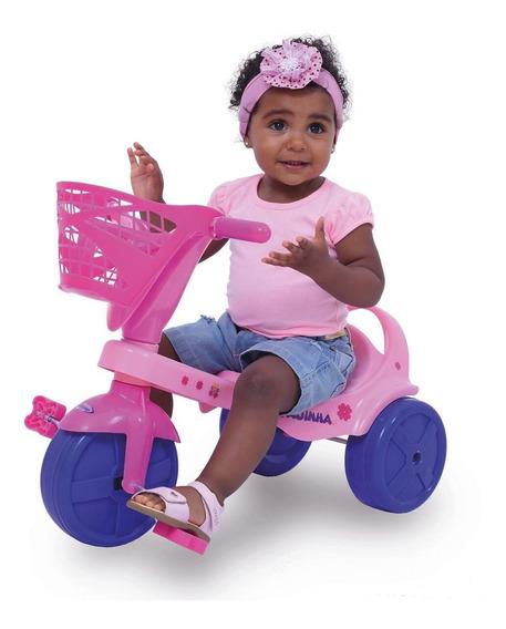 Triciclo Infantil Hada Con Canasto Reforzado
