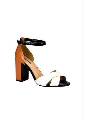 bc7b9f4c3 Sandália Dakota Branca E Marrom Salto Grosso - R$ 199,00 em Mercado Livre