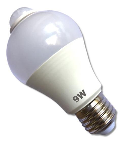 Lampada Led Inteligente Com Sensor De Movimento 9w