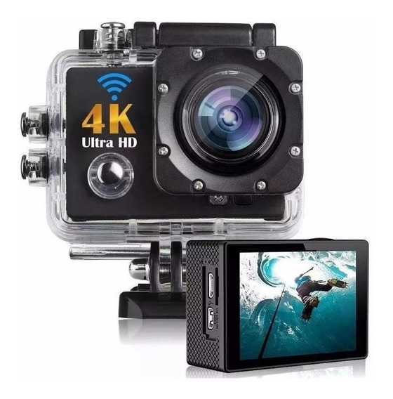 Action Cam Camera 4k Sports Ultra Hd Wi-fi Tela Lcd