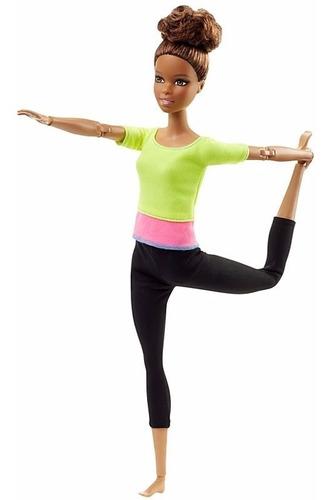 Imagem 1 de 6 de Boneca Barbie Articulada Morena Top Yoga Asha Made To Move