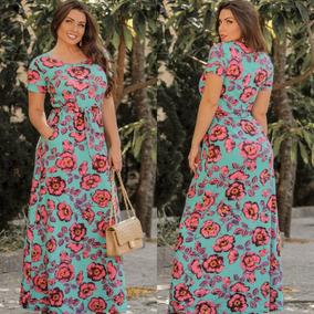 5b507b519 Vestido Plus Size Longo Casual - Vestidos Casuais Longos Femininas ...