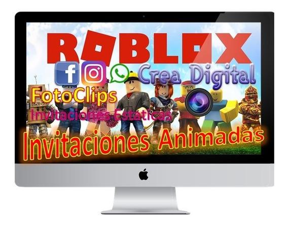 Video Invitación Roblox Cumpleaños Niños, Niñas, Videojuegos