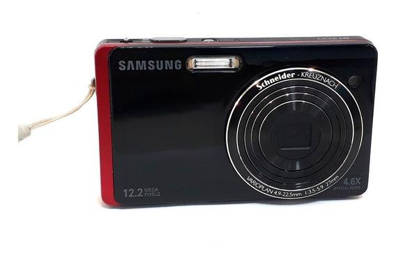 Câmera Digital Samsung St500 Preta Com Vermelha No Estado