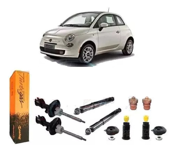 Kit Amortecedor Diant Tras + Kit Batente Fiat 500 Mexicano
