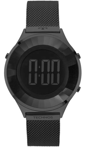 Relógio Technos Feminino Digital Crystal Preto Bj3851ae/4p