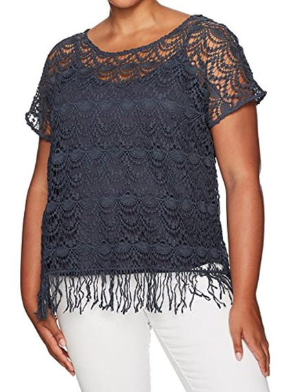 Junarose Women S Plus Size Short Sleeve Crochet Top