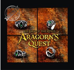 Anel Aragorn Of Barahir - Aço 360l - Senhor Dos Anéis