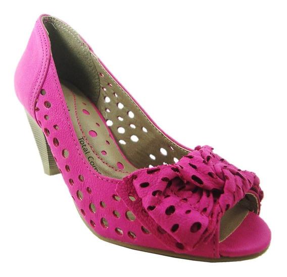 Sapato Adulto Feminino Peep Toe Ramarim Pink - 1116205