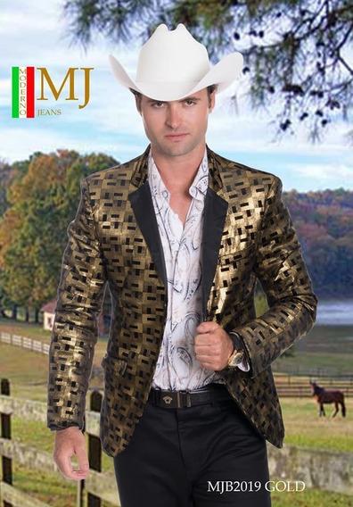 Saco Caballero Premiun Moderno Mjb 2019 Dorado/negro/bronze