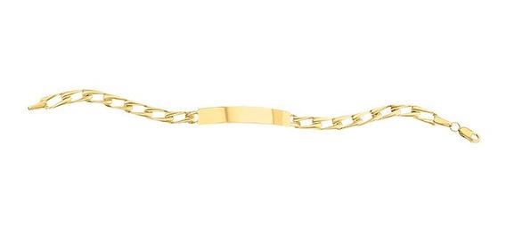Esclava Troquelada Delgada 15cm Oro 14k - 743