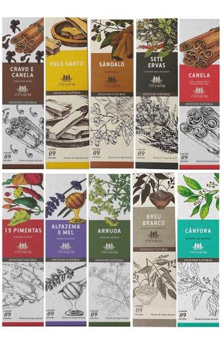 Imagem 1 de 10 de Incenso Nirvana Kit C/ 10 Aromas A Escolher + Brinde + Frete