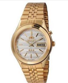 Relógios Masculinos Orient Automático Dourado Aprova D