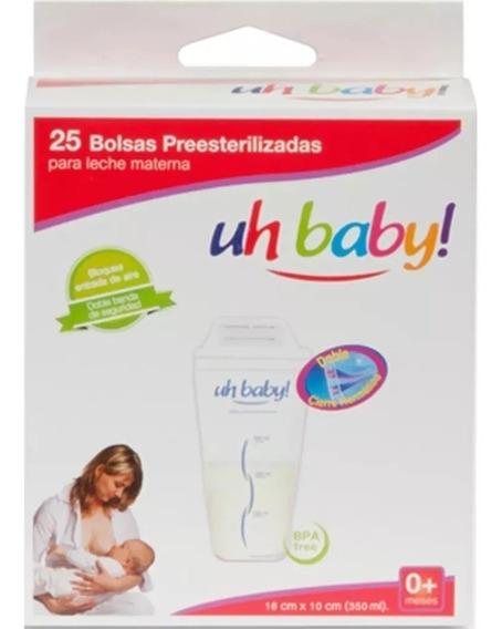 Bolsas Recolectora Leche Materna Uhbaby! 25 Unidades X 350ml