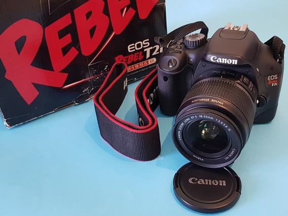 Câmera Fotográfica Canon T2i Rebel (kit 18-55mm)