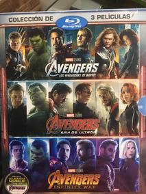Avengers Colección 1, 2 Y 3 Bluray + Boleto Doble Endgame