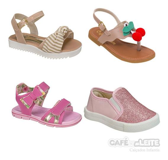 Kit Calçados Infantil Casual Feminino Menina (4 Pares)