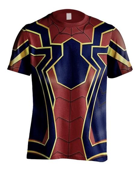 Camisa Camiseta Uniforme Armadura Vingadores Homem Aranha