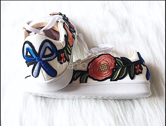 Tenis Flores Gucci (tipo)