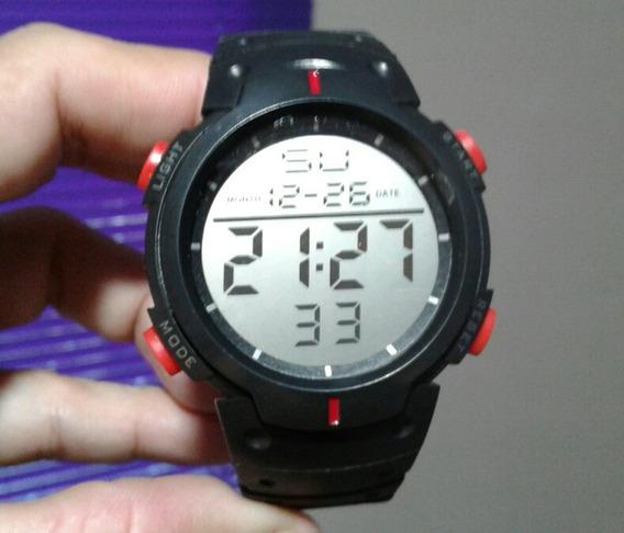 Relógio Preto Pulso Digital Masculino Feminino Fotos Reais