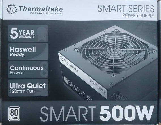 Fonte Thermaltake Smart Series 500w 80plus White