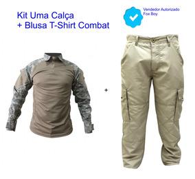 Calça Cargo + Blusa Poly Rip Stop Tam Maior Plus Sizegrande