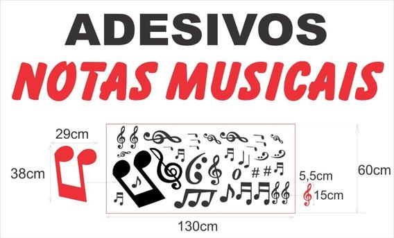 Adesivos Notas Musicais (35 Peças) Para Decorar Onde Desejar
