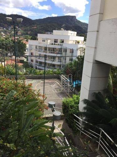 Apartamento Com 3 Dormitórios À Venda, 121 M² Por R$ 560.000,00 - Piratininga - Niterói/rj - Ap1576