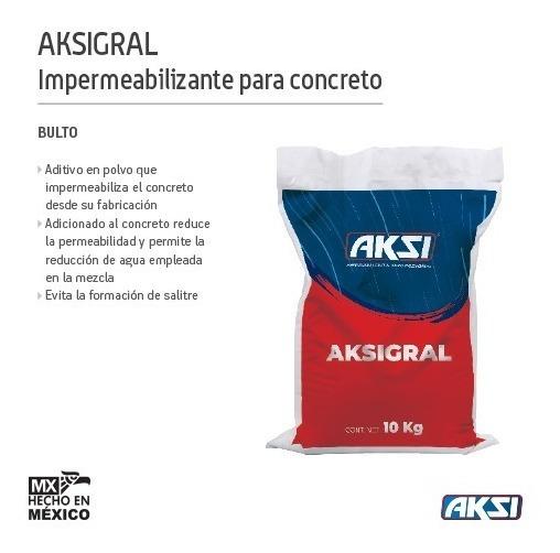Impermeabilizante Para Concreto Aksigral 10 Kg. 118473