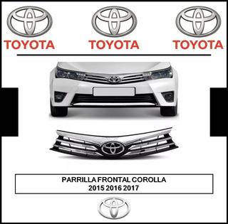 Parrilla Frontal Cromada Toyota Corolla 2015 2016 2017