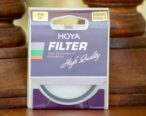 Filtro Hoya High Quality 55mm Star Six Rosca Nikon Canon Son