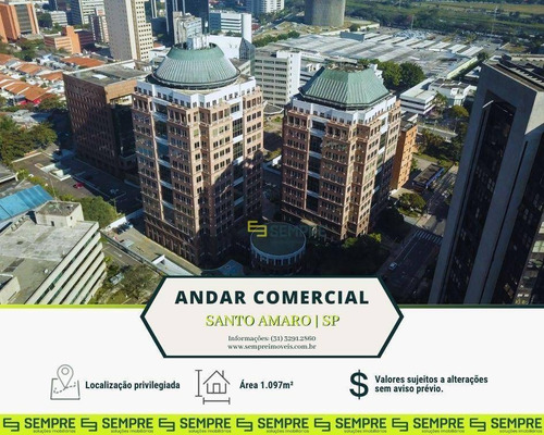 Imagem 1 de 30 de Andar Corporativo Para Alugar, 1.097 M² E 22 Vagas - Santo Amaro - São Paulo/sp - Ac0168