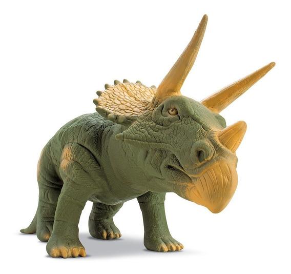 Dinossauro Triceratopes Grande 36 Cm Rinoceronte Rex Meninos