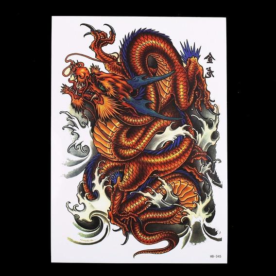Tatuagem De Henna A Prova Dàgua Dragão Vermelho