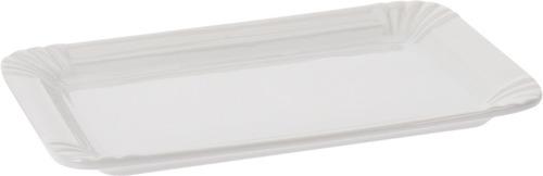 Plato Bandeja Rectangular Porcelana 26x18cm