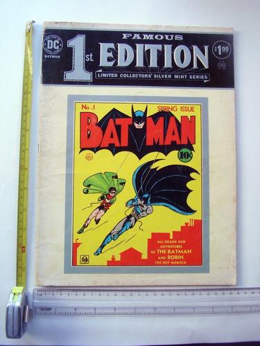 Imagen 1 de 7 de Batman 1 Comic First Edition Famous Dc