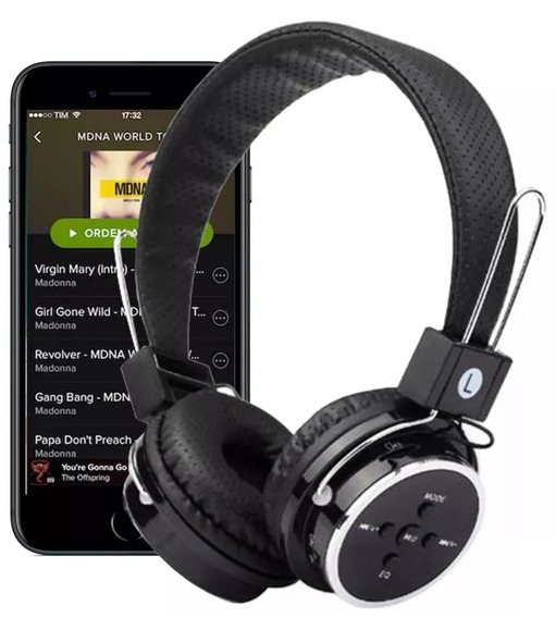 Fone De Ouvido Bluetooth (sem Fio) Fm B05 Headfone