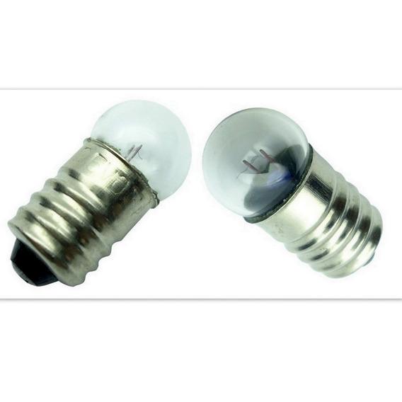 Mini Lampada Redonda Base E10 2.5 V , Abajur Etc Kit 25 Un
