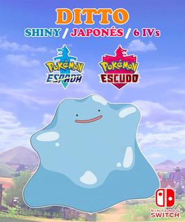 Ditto Shiny / Japonés / 6 Ivs - Pokémon Escudo Espada Switch