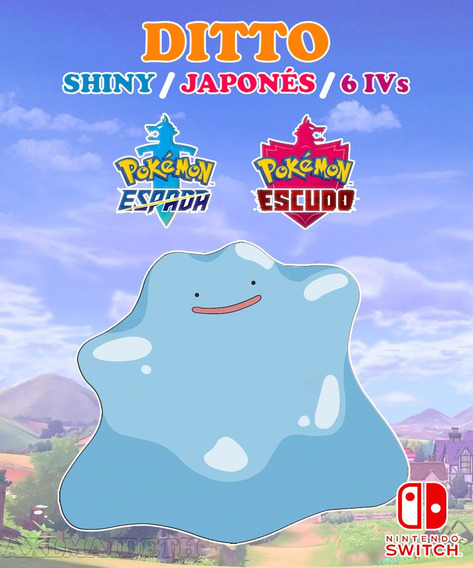Ditto Shiny / Japonés / 6 Ivs - Pokémon Escudo Espada Switch