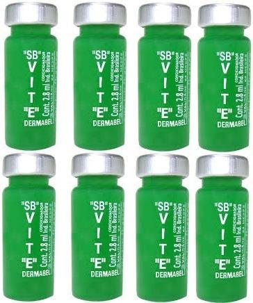 8 Ampolas Cabelo Vitamina E (fortalecimento) Dermabel 2,8ml